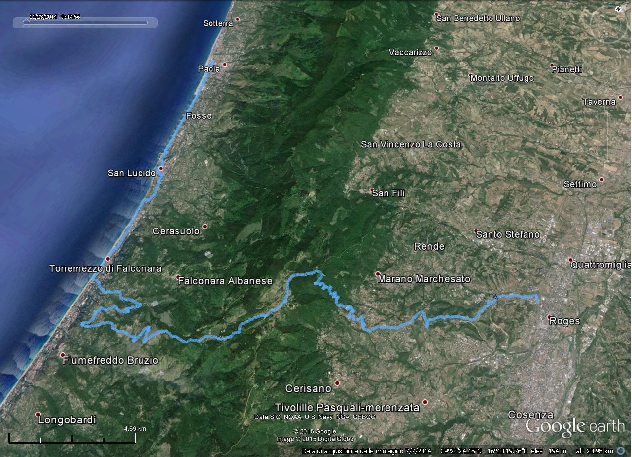 Cicloturismo in Calabria: da Rende verso il Tirreno attraverso Monte Barbaro.